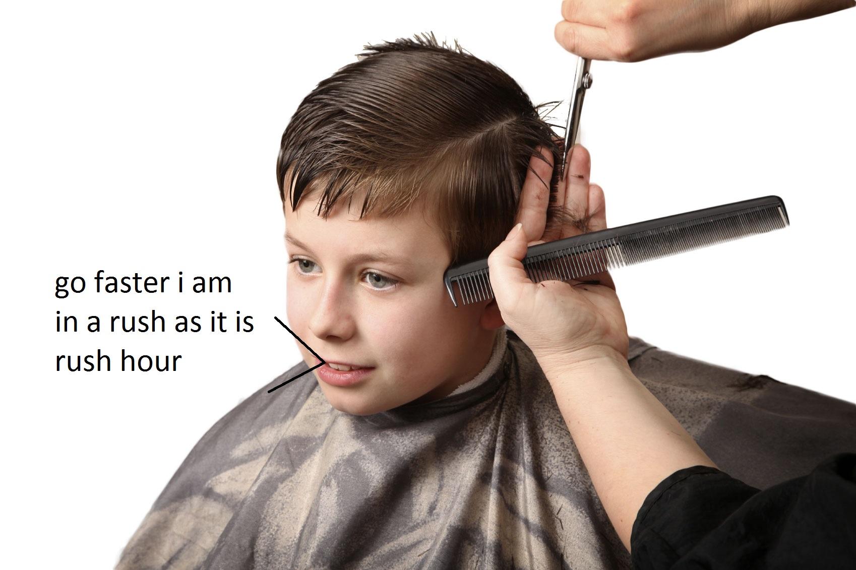 Baby boy haircut