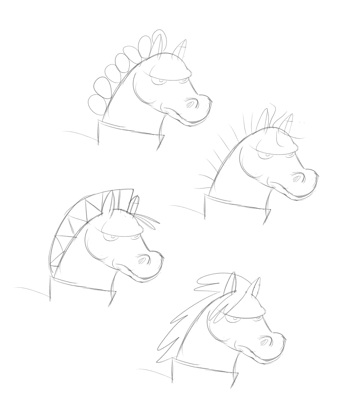 Thinking What Hairstyle I Should Choose For The Horse Warrior To