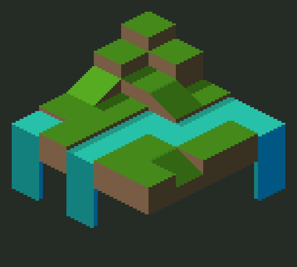 Isometric Pixel Art Practice 001 by CNIAngel (Streak 0
